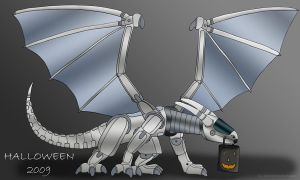 Happy Halloween 2009 - AIBO Dr by thelonelydragon
