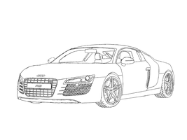 Audi R8 line art by Axial97