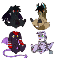 Halloween Adoptables 2 by CleverConflict