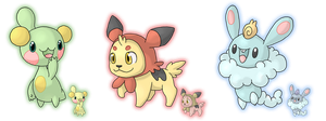 Contest - Costa Region Starters by Cid-Fox