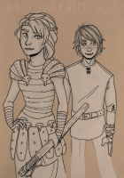 Astrid and Hiccup by WillowLightfoot