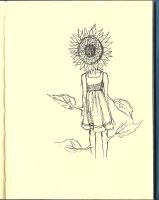 Sunflower Girl by decomposerdoll