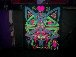 Untitled Blacklight painting by nectyrnal