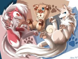 Paws of Rock Dogs by AKamihara