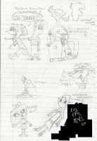 PnF Sketches :D by MrsDK1998