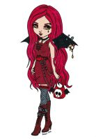 Gothic Bat Colored by Maiko-Girl