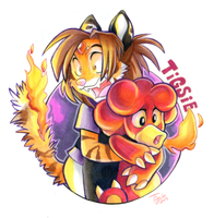 Tigsie Loves Magby Badge by Tigsie