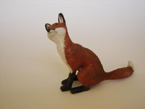 Fox Sculpture Finished by philosophyfox