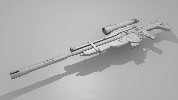 [3D - Wire] Sniper Rifle by Faztor5