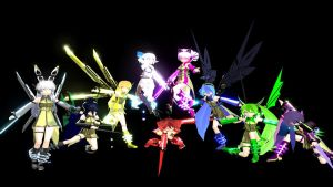MMD Newcomers Cyber Defenders by SnowLillyYukino