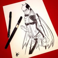Batgirl sketch 2 by JustinCoffee