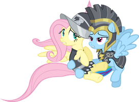 Commander Hurricane and Private Pansy by vectorvector