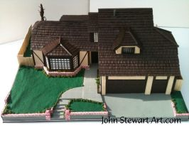 Poltergeist House Scratch Made Model for sale by johnstewartart