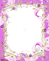 frame pink baw and swirls png by Melissa-tm