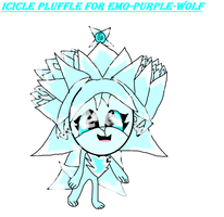 Icicle Pluffle for Emo-purple-wolf by ShadowUkelover