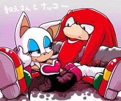 Rouge and Knuckles2 by riku-dou