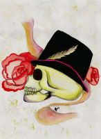 Skull and Flower by AndyBorges