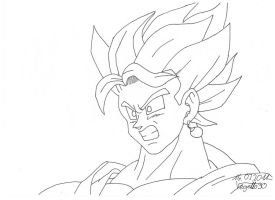 Vegito yieks lineart by Vegetto90