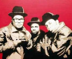 Stencil of Run DMC by TEK13