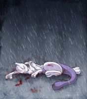 The Fall of Mewtwo by Merinid-DE