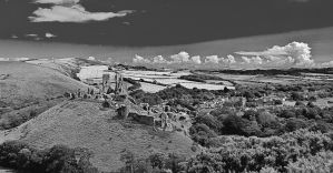Corfe Castle and Village by Xs9nake