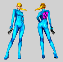 Metroid M - Samus Aran in Max Factory figure pose by iheartibuki