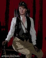 Steampunk Katie Poster of the Times by chimeramindstudio