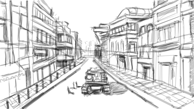 WIP City design by Zr0wing