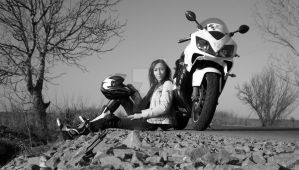 me and my bike honda by raven30hell