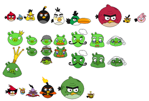 Angry Birds Sprites by Pottaishi-Knowledge by jared33