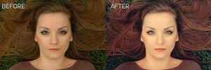 Before And After retouch by too-much4you
