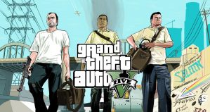 Grand Theft Auto V : MS Paint by Shleeen