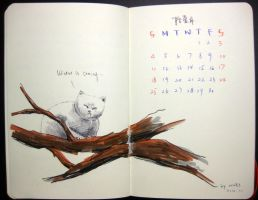 11th page of 2012 calendar by wwei