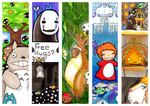 Ghibli Bookmarks by Captain-Puppybutt