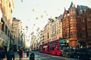 Oxford Circus Traffic by Jeane58