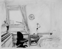 My Room in Pencil by elooly