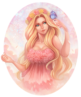 Rosy Dream - Commission by clover-teapot