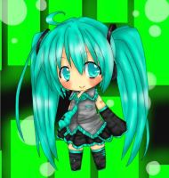 Colored Chibi Miku by CandyCoatedPlanet