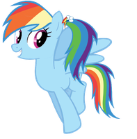 MLP Rainbow Dash with a ponytail by WinxFloraBloomRoxy
