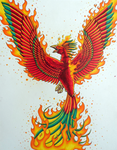 Phoenix Tattoo Design by K-Pepper