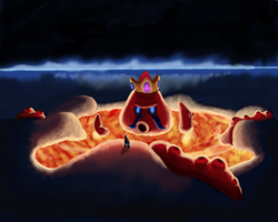Super Mario Galaxy : King Kaliente / Frikipulpo . by maesejesus