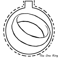 The One Ring Ornament by TheBluekulele
