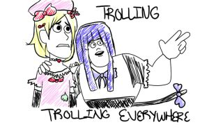 Trolling, Trolling Everywhere by KrazyCatQueen