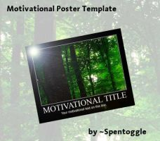 Motivational Poster PSD by spentoggle