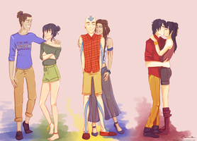 Modern day ATLA Lovers by annogueras