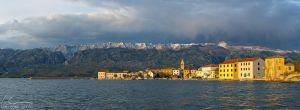 Panorama of Vinjerac by ivancoric