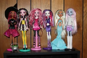 6 Monster High custom dolls by rainbow1977