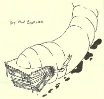 The Big Bad Bookworm by dracorotor