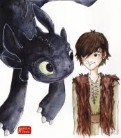 Hiccup and Toothless by Dreamsoffools