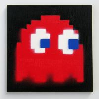 Pac Man Ghoster Blinky side by arcade-art
